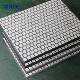 Steel backed rubber ceramic wear liner cement tiles plate for chute
