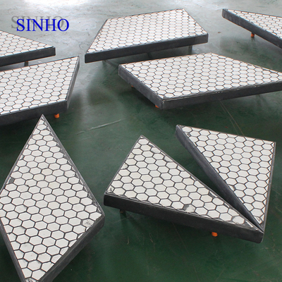 Square Ceramic Tile Rubber Composite Plates