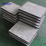 Wear resistant alumina ceramic rubber compound lining plate
