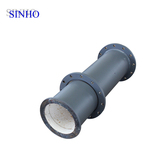 Abrasion resistant ceramic lined steel pipe and elbow